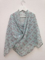 Silk Chiffon Scarf - Large - Vintage botanicals mini or medium print