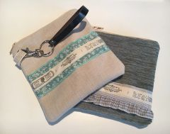 Vintage inspired handmade Cotton fabric Purse