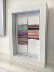Framed thread art