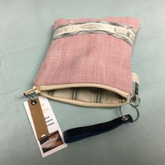 Handmade Cotton Purse - French Vintage Rose Grey