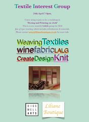 Textiles and weaving Interest group meeting