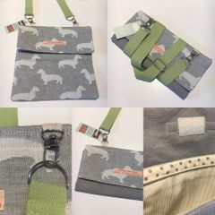 Wrap style purse - handmade in pure cotton fabric