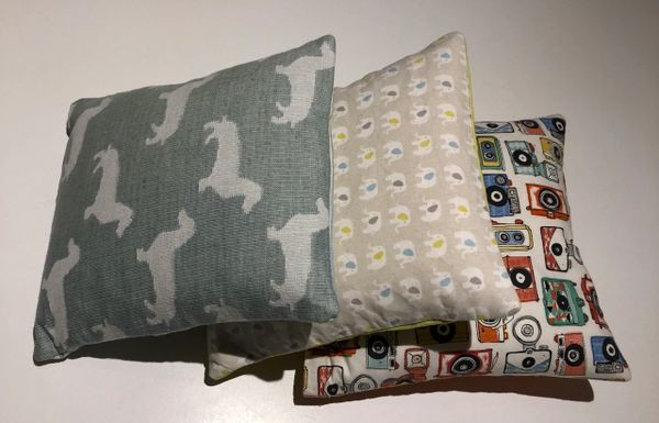 Handmade cuddle cushion - cotton prints