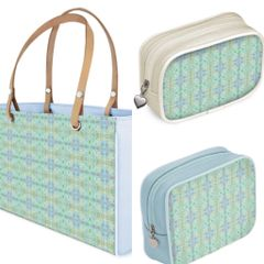 Leather tote bags and cosmetic purses - limited edition prints