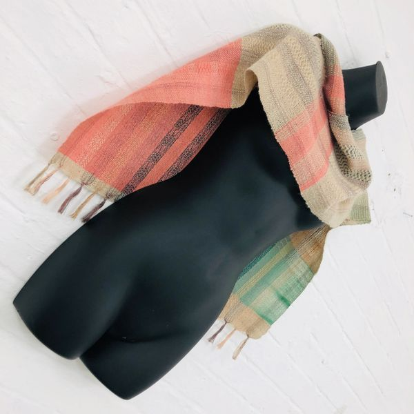 Handwoven Scarf in a Luxurious Silk & Wool blend