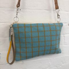Soft 'Rupert' Check shoulder bag handmade in loom woven cotton cloth