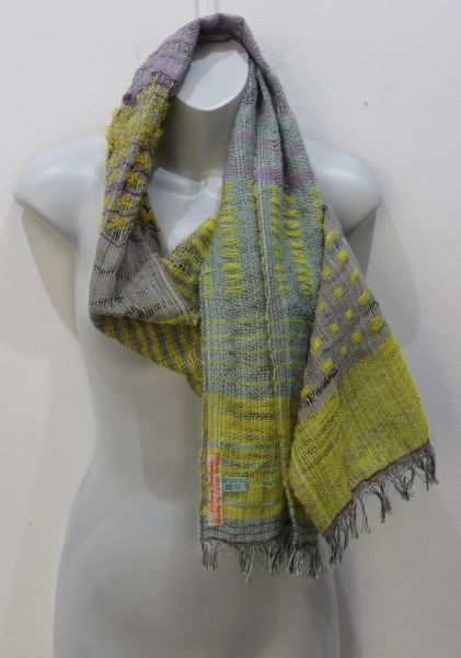 Handwoven Scarf in a Luxurious Cotton & Wool blend