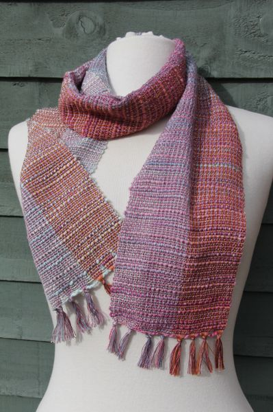 Handwoven Cotton Mix fibre Slubby Scarf