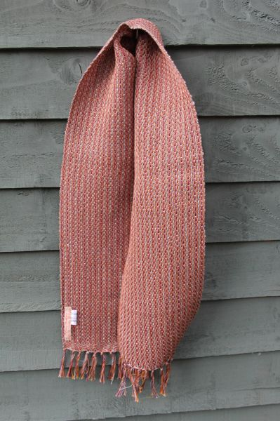 Handwoven Linen Scarf - Long slim