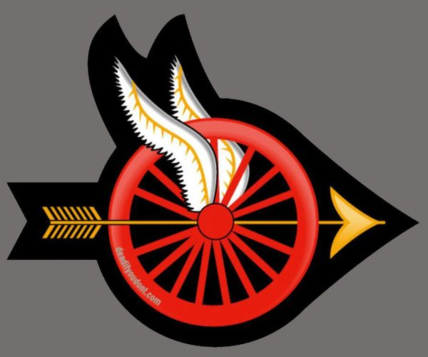 Winged Wheel Sticker - Red wheel - Buy 5, get 1 free!