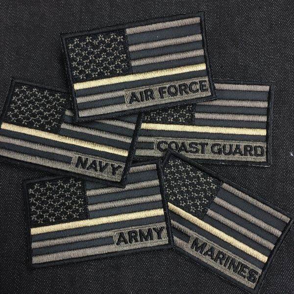 C - Military Service Branch Velcro Patches