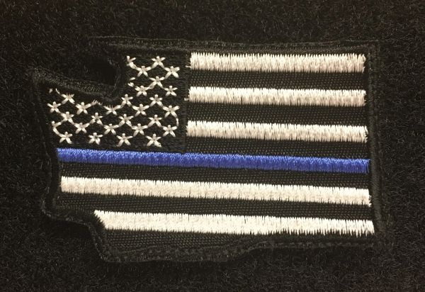 Patch - Any State Thin Blue Line Velcro patch
