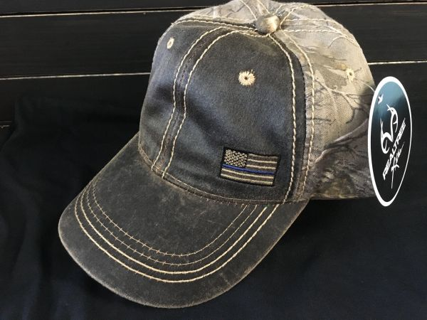 C3 - Thin Blue Line Flag Camo Hat
