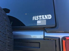 i Stand with the Flag Window Sticker - Vinyl Decal #iSTAND Buy 4 - get 1 free!