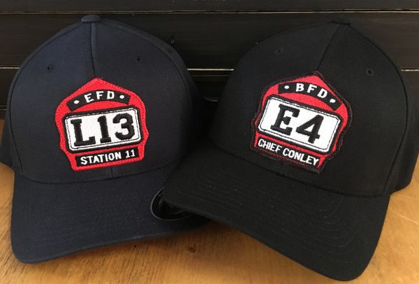 A14 - Firefighter Helmet Shield Custom Flexfit Hat