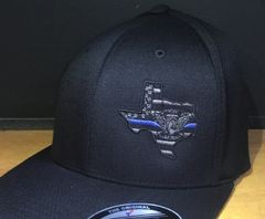B4 - Motors Any State, Flexfit hat, Thin Blue Line logo