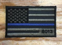 A3 - Custom Flag Patch, Personalize with Serial#, Badge#, Name, Dept.