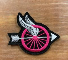 B2 - Pink Winged Wheel Motors Patch, Breast Cancer Patch