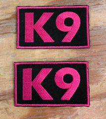A111 - K9 Pink Patches, Breast Cancer Patches