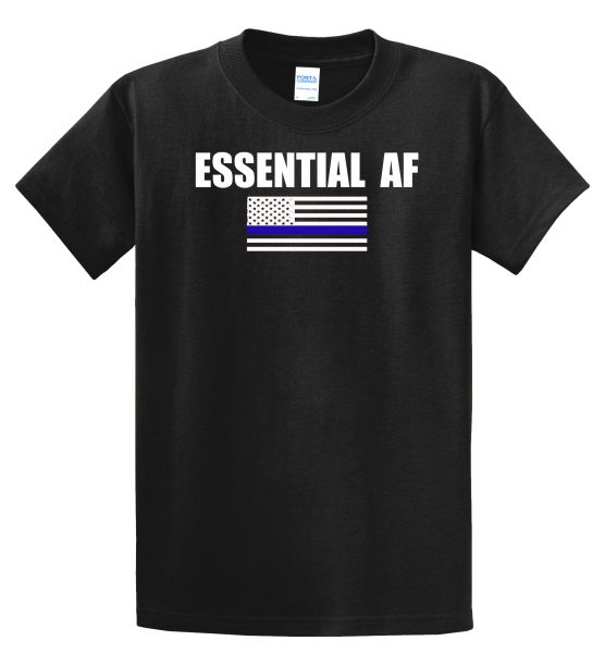A12-Essential AF Blue Line Flag - T shirt