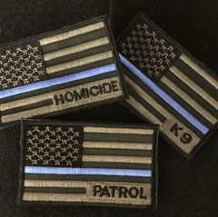 A2 - Flag Patch - Duty Specific Thin Blue Line Flag Velcro patch