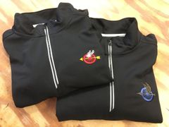 Qtr Zip, Dri fit Pullover - Winged Wheel Logo