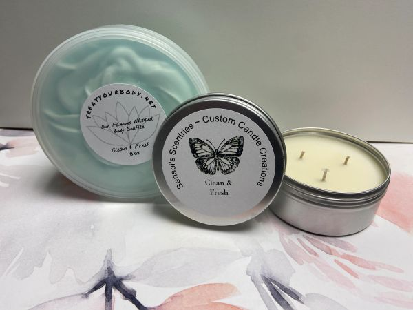 Whipped Body Soufflé & Sensei's Scentries Candle