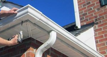 repairing Gutter Repairs, Cleaning or Replacement. EAVESTROUGH