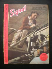 Original German Signal magazine French language rare colour front page issue number 7 dated 1944 complete nice condition