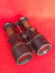 French soldiers army binoculars with compass,maker marked,nice condition found on the Somme battlefield
