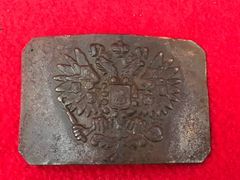 Russian soldiers belt buckle nice condition number on the back recovered from Lutsk in the Ukraine from the Russian Brusilov offensive of summer 1916