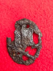 German general assault badge medal recovered from field near Trun a pit dug by the allies where lots of German equipment was buried after the battle in the Falaise Pocket 1944