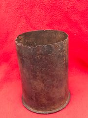 German steel shell case for 10.5cm LEFH18 Field howitzer dated 1942,waffen stamped recovered from the battlefield on the Seelow Heights in 1945 the opening battle for Berlin
