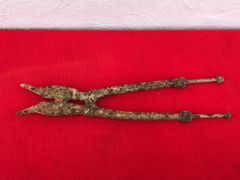 German 1st pattern pair of large long handled barbed wire cutters,relic condition recovered in the area that was Guillemont Station on the Somme battlefield of 1916
