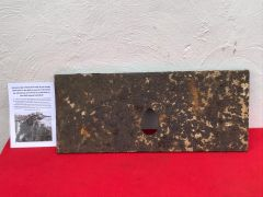 Very rare German sniper shield 1914 made by the troops themselves the birth of Trench warfare recovered in 2015 from the old German trench line at La Boisselle on the 1st July 1916 Somme battlefield