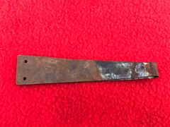 American Browning machine gun ammunition belt starter tab,nice condition, mostly brass colour with markings recovered from the Meuse Argonne Forest the 1918 battlefield