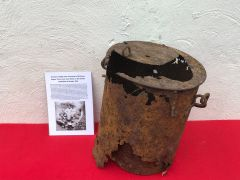 German cooking stove near complete nice condition,solid relic recovered in 2016 from Regina Trench near Courcelette on the Somme battlefield of October 1916