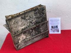Very rare find ammunition container with paintwork and numbers from a gun turret from RAF Wellington bomber MF509 crashed on the 20th November 1944 on the Brecon beacons