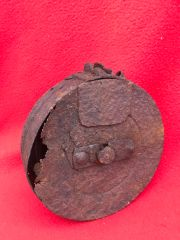 Russian PPSH41 machine gun drum magazine,relic,solid recovered from the battlefield around the siege of Danzig fought in March 1945 in Germany