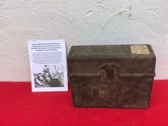 German Field telephone model 33 bakerlite case,maker markings used by the Panzer Lehr Division recovered near Rochefort in the Ardennes Forest form battle of the Bulge 1944-1945
