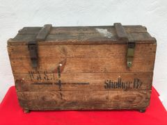 German stick grenade carry box in fantastic condition with original markings and remains of the paper label inside,late war make found on the Somme battlefield of 1916-1918