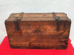 German stick grenade carry box in fantastic condition with original markings rare red ink and near complete paper label inside found on the Somme battlefield of 1916-1918