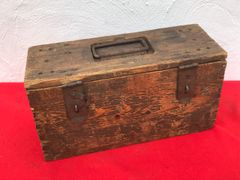 Rare German world war 1 battery storage box dated November 1917 re issued in December 1939,waffen stamped with original paintwork for use in World war 2 found near Arras from battle of France