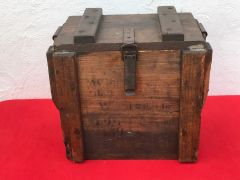 German 7.58cm light Minenwerfer mortar ammunition crate with maker markings,nice condition found on the Somme battlefield