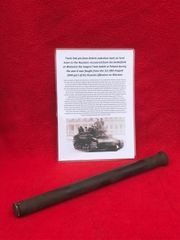 Track Link pin from British valentine Tank on lend lease to the Russian Army recovered from a tank destroyed in the battle at Wolomin which was the largest Tank battle in Poland fought August 1944