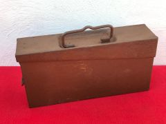 Austro-Hungarian single maxim machine gun ammunition tin very nice condition relic with all original green paintwork on the inside found in Poland from the Eastern front battles of 1914-1918