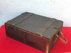 World War 1 German ammunition wooden crate for 7.92mm bullets re used post war for storage found on a Farm in the village of Flers on the Somme battlefield 1916-1918