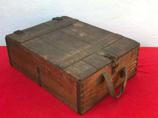 World War 1 German ammunition wooden crate for 7 92mm bullets with rare  Prussian crown maker marking found on the Somme battlefield 1916-1918