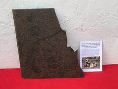 German sniper shield section which has blown apart in an explosion recovered from the battlefield at Passchendaele from the 1917 battle part of the third battle of Ypres