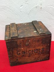 British ww2 aircraft photo reconnaissance G.Nichols made wooden crate,nice condition found on a Brocante near Caen in Normandy